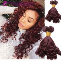 acid red wine - Brazilian Burgundy J Bouncy Aunty Funmi Human Hair Weave Extensions Double Weft Red Wine Romance Spiral Curly Brazilian Funmi Hair Bundles