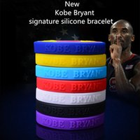 Wholesale 2016 New Kobe Bryant basketball sport silicone wrisband men gym fitness bands power energy bracelets rubber