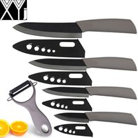 ceramic knife set - Black ceramic knife set grey kitchen knives inch chef slicing utility paring knife with ceramic peeler cooking tools