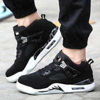 athlete sneaker - Hot New Design High Top Men Basketball Shoes Outdoor Athlete Sports Sneakers Shoes Men Basketball Shoes Black White NX4079