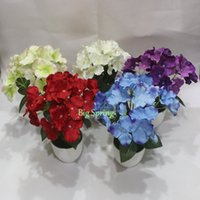Wholesale With Plastic Flowerpot Orchid Flower Home Window Artificial Green Tree Fake Potted Vivid Lifelike Plant Ficus Table Garden Yard Decor
