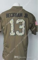 army service uniform - NIK Elite Giants Odell Beckham Jr Royal Salute To Service Mens Army Green Stitched Embroidery Logos America Football Jerseys Uniforms