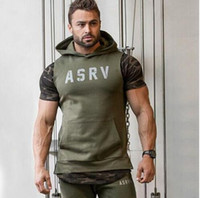 air force sweatshirts - 2016 Fashion muscle ASRV air force hoodies slim sleeveless sweatshirts sportgym bodybuilding workout Tracksuit Men s Training Gym Hoodies