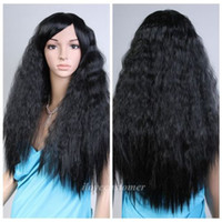 Wholesale Quality Fashion Picture full lace High wigs gt gt Black Fashion Women Curly Wavy Heat Resistant Synthetic Hair Cosplay Party Wig