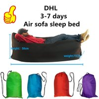 deck chair - Lamzac Fast Inflatable Travel Sleeping Bag Camping Lazy Sleep Bag Sofa Deck Chair Easy Carry Factory Price DHL Fast Shipping days