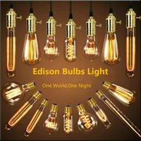 antique copper knobs - Loft American Vintage Pendant Lights Antique Copper Brass E27 Single Pendant Lamps With Braided Wire AC110 V Edison Bulbs