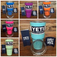 Wholesale 30oz YETI Rambler Tumbler Cup Color Purple Pink Blue Light Blue Orange Light Green Bilayer Vacuum Insulation Cup Tumbler Mug OOA397
