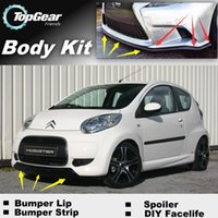 Wholesale Bumper Lip Lips For Citroen C1 Front Skirt Deflector Spoiler For Car Tuning The Stig Recommend Body Kit Strip