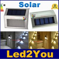 Precio de Luces led solar led solar-Alto Brillante Impermeable LED Solar Luz Impermeable 2Leds Escaleras solares luz Jardín luces al aire libre paisaje césped lámpara Lámparas de pared solar