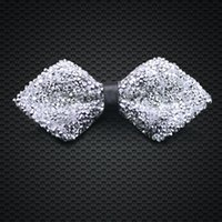 Wholesale New Style Crystal Bow Ties Mens Fashion Accessories Wedding Party Adjustable New Style Bow Ties F