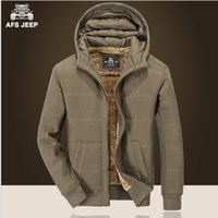 beige cashmere cardigan - AFS JEEP Cashmere Inner Warmly Coat for Men New Winter Thickness Solid Cardigan Sweatshirts xl xl Plus Size Hoodies