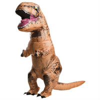Wholesale mascot INFLATABLE Dinosaur park Costume Jurassic World toy fun Park Blowup Dinosaur Halloween Game novelty adult brown Party