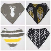 Wholesale infant baby bibs cute triangle cotton double towel baby bib slobber pieces new baby bib freeshipping