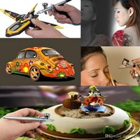 air makeup system - Airbrush Makeup System Kit with Mini Air Compressor for Hobby Cosmetic Nail Art Cake Decorating