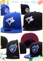 Wholesale Men s full Closed Toronto Blue Jays fitted hat sport team casquette baseball cap colors