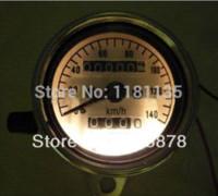 Wholesale New Universal Motorcycle Dual Odometer Speedometer Gauge Test Miles Speed meter speedometer suzuki meter balance