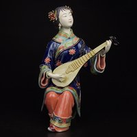 antique lady doll - Antique Statues for Decoration Chinese Lady Sculpture Porcelain Shiwan doll Female Statues Art Collectibles Ceramic Crafts