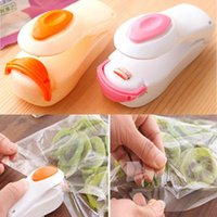Wholesale Vacuum Food Sealer Mini Portable Heat Sealing Machine Impulse Bag Sealer Seal Machine Plastic Bags Sealing Tools Pink Orange