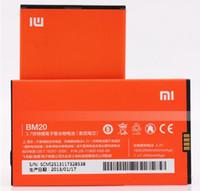 Wholesale 100 original MI2S batterie Li ion V BM20 mAh cellphone battery for XIAOMI M2 smart phone
