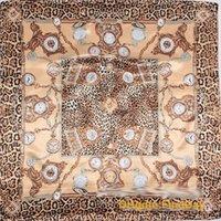 bufanda de seda bufanda de seda de la cadena del reloj de moda del leopardo naranja clásico señora clásica