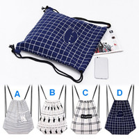 artistic schools - Simple Canvas backpack Bag drawing string shoulders bag artistic shopping bag two side Printing students school drawing bag shopping Bags