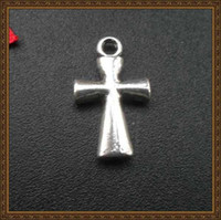 Wholesale DIY jewelry accessories antique silver mini cross charms jewelry pendants for necklace and bracelets x11mm