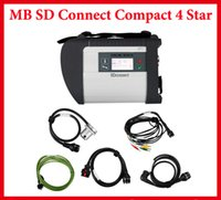 Wholesale High Quality MB Star C4 Sd Connect for Mercedes Benz for car truck Diagnostic Tool With WIFI Wireless Function No Software HDD by DHL