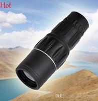 Wholesale 15x Zoom In Binoculars Telescopes Monocular Pop Focus Dual Green Film High Powered Big Eyepiece Hunting Objective Lens Telescope SV112521