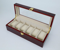 antique rosewood box - High Quality Luxury Solid Wood Rosewood Watch Box Grids Watch Case Watch Display Packaging Gift Box for Watches
