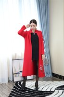 Wholesale Occident fashion brand runway luxury women autumn winter Vintage embroidery trench wool coat women s Embroidered sweaters Cardigans