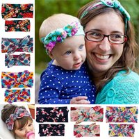 adult baby accessories - Baby Adult Bow Elastic Headbands Girls Mommy Bow Hair Band Infant Lady Lovely Elastic Headwrap Children Bow Knot Hair Accessories Colors