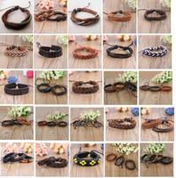 Wholesale bulk mixed styles men s women s fashion leather vintage Ethnic Tribal jewelry cuff bracelets bangles