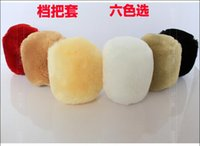 Wholesale New arrival The latest fashion classic Winter car fluffy gear set hand brake set