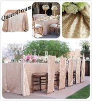 best wedding cakes - Best Choice x156 Inch Champagne Sequin RECTANGULAR Tablecloth Table Cloth Table Cover For Weddings Holiday Party
