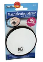 Wholesale 10X makeup mirror magnified travel magnifying mirror with sucker magnifying glass mirror magnifying makeup mirror