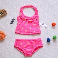 baby bikini pattern - Infants swimsuit and children baby girls Bikinis cute cartoon pineapple gilt pattern Natatorium girls swimwear kids swim Spa essential DHL