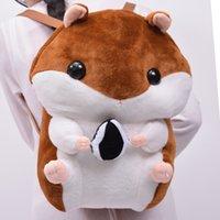 Wholesale Lovely kids toy children toys Plush bag cartoon hamster backpack girl boudoir Decor chubby cartoon gift