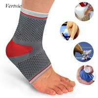 basketball safety equipment - Vertvie Sport Safety Gray Breathable Knit Red Sport Silicone Ankle Support Basketball Equipment Size S L PC