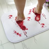 Wholesale Blood Bloody Footprints Horror Movie Bathroom Bath Mat Carpet Non slip Rugs