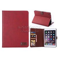 Wholesale Crazy Horse Ipad Mini - For ipad Pro 9.7 inch mini 2 3 air 2 Crazy Horse Kickstand PU Pocket Card Slot Case With Opp Bag Only