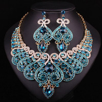 agate dark crystal - White Gold Plated Bridal Jewelry Sets Statement Necklace And Earring Set Of Fashion Jewelry Women Accessories Christmas Present