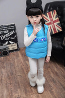 Wholesale kids waistcoat children outwear boy and girl down cotton vest colors size for T children autumn winter kids clothing