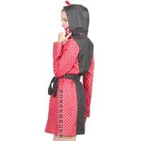 Wholesale 2016 Newest Transparent Raincoat Women With Belt Waterproof Rain Poncho Coat Jackets Female Chubasqueros Impermeables Mujer