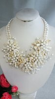 Wholesale Fashion Handmade Pearl Flower Necklace For Wedding