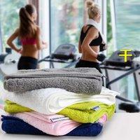 Wholesale DHL High Quality Adult Cotton Absorbent Microfiber Drying Bath Beach Towel Swimwear Shower Women Men Running Sport Yoga Towel cmZJ T07