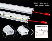 Wholesale Super bright W CM led Rigid Strip light LED Bar light U aluminum Light Non Waterproof LEDs M LED DC12V LED Tube