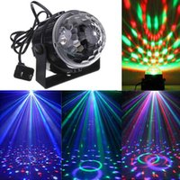 Wholesale 3W LED RGB DJ Club Disco Party Magic Ball Crystal Effect Light Stage Lighting Sound Control Lamp