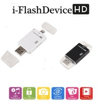 Wholesale in OTG Card Reader Micro USB Flash Drive TF HD U Disk for Lighting Device for iPhone iPad iPod Mac IOS