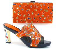 Wholesale Africa new fashion shoes and bags matching set high quality Italian women matching shoes and bags