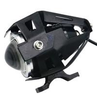 Wholesale 5 Color W Motorcycle Motorbike LMW Upper Low Beam Flash CREE New U5 U7 LED Driving Fog Spot Head Light Lamp Headlight YM0108